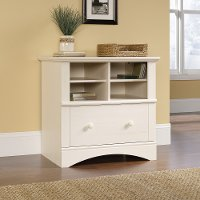Antiqued White Lateral File Cabinet - Harbor View