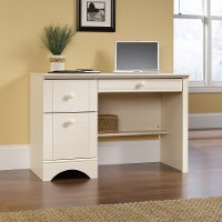 Antiqued White Computer Desk - Harbor View