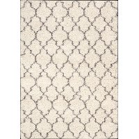 8 x 11 Large Cream Area Rug - Amore