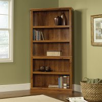 Abbey Oak 5-Shelf Bookcase- Storage
