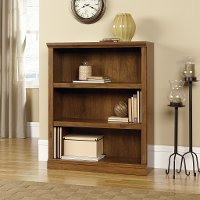 Oiled Oak 3-Shelf Bookcase - Storage