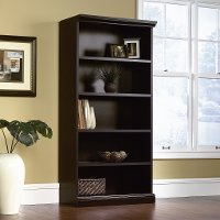 Black 5-Shelf Library Bookcase - Storage