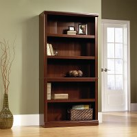 Cherry 5-Shelf Bookcase - Storage