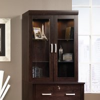 Dark Alder Hutch for Lateral File Cabinet - Office Port
