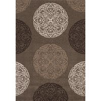 8 x 11 Large Brown Area Rug - Townshend