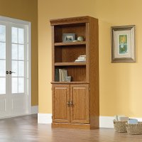 Carolina Oak Library with Doors - Orchard Hills