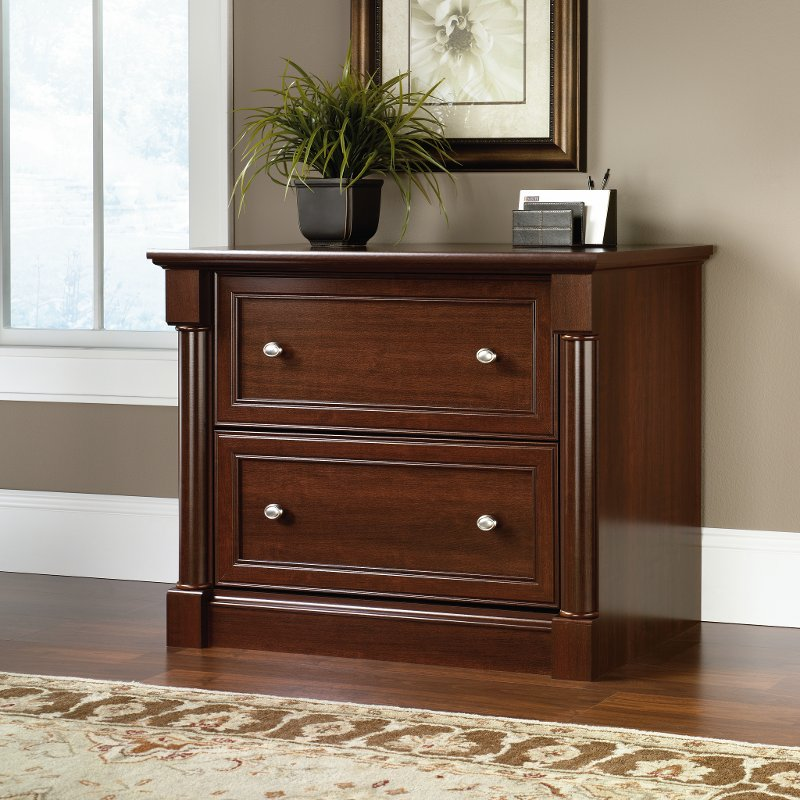 Cherry 2 Drawer Lateral File Cabinet - Palladia