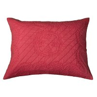Coral Quilted Standard Sham - Moroccan Fling Bedding Collection