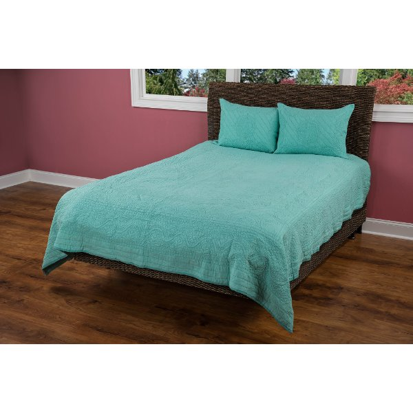 Aqua Twin Quilt Moroccan Fling Bedding Collection