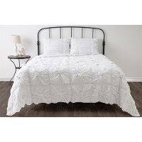 White Twin 2 Piece Set Day Dream Bedding Collection