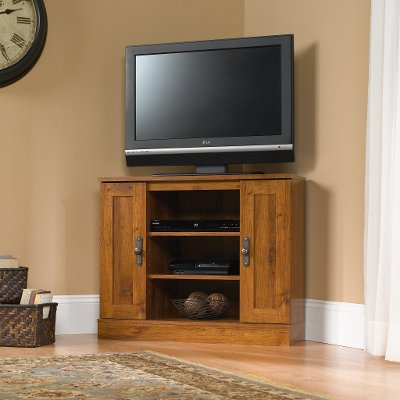 Corner Tv Stands Searching Sauder Rc Willey Furniture Store