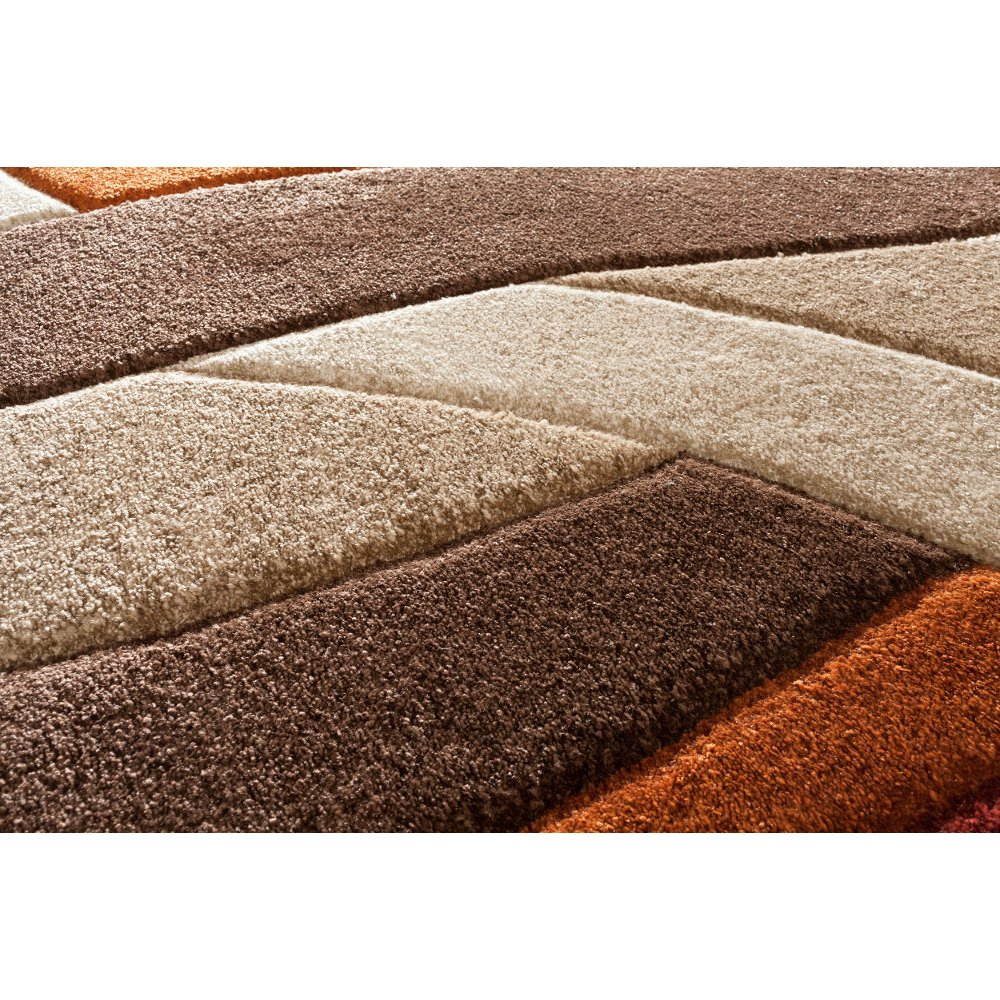 Orange brown area rug rugs ideas for Large red area rugs