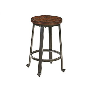 DSDCA Challiman Rustic Brown Counter Stool Set of 2