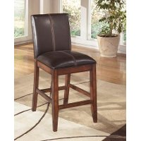 Dark Brown Upholstered Counter Stool (Set of 2) - Larchmont