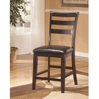 Ridgley dark brown upholstered counter stool set of 2 for Ridgley dining room set