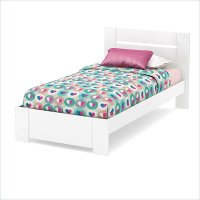 3840189 White Twin Bed Set (39 Inch) - Reevo