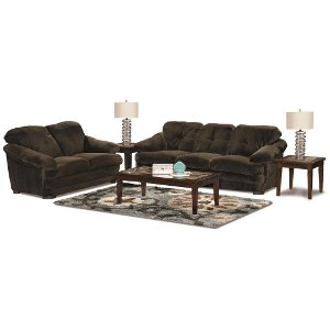 Boston Chocolate Upholstered 7 Piece Room Group