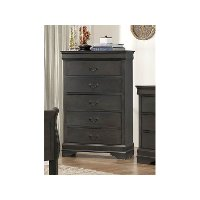 Traditional Gray Chest of Drawers - Mayville