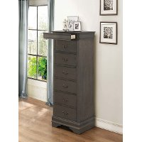 Traditional Gray Lingerie Chest of Drawers - Mayville
