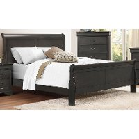 Slate Gray Classic King Sleigh Bed - Mayville