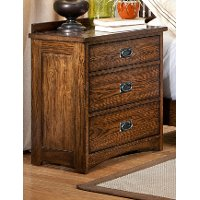 Mission Oak Nightstand - Oak Park
