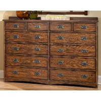 Oak Park Mission 12-Drawer Dresser