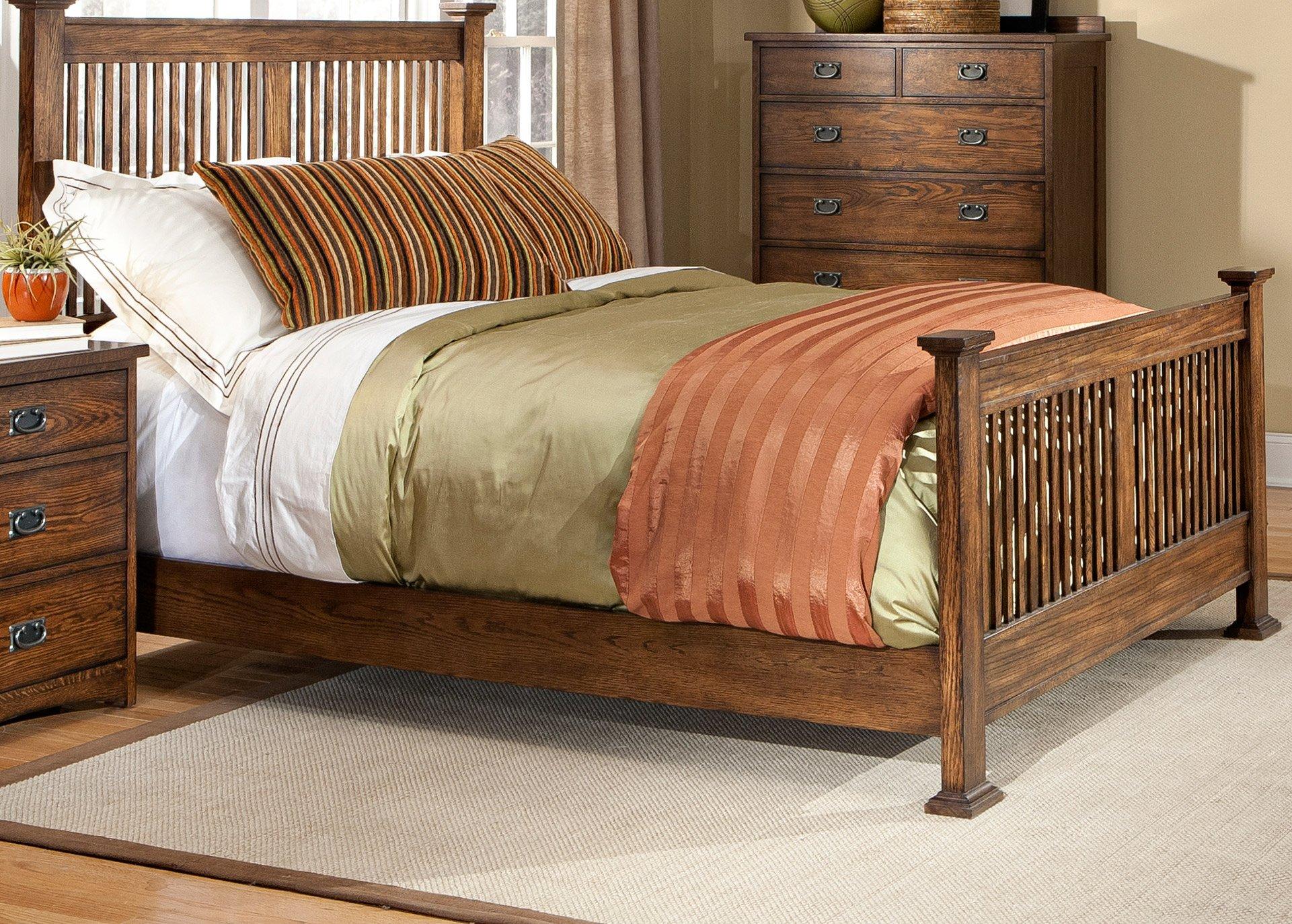 Mission Oak 6 Piece Queen Bedroom Set - Oak Park   RC Willey ...