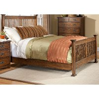 Mission King Size Bed - Oak Park