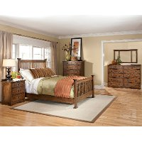 Mission Oak 6 Piece King Bedroom Set - Oak Park