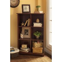 Cherry 6-Cube Bookcase - Cabot