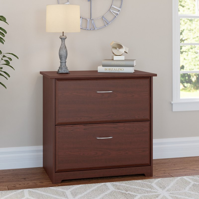 Cherry 2 Drawer Lateral File Cabinet - Cabot