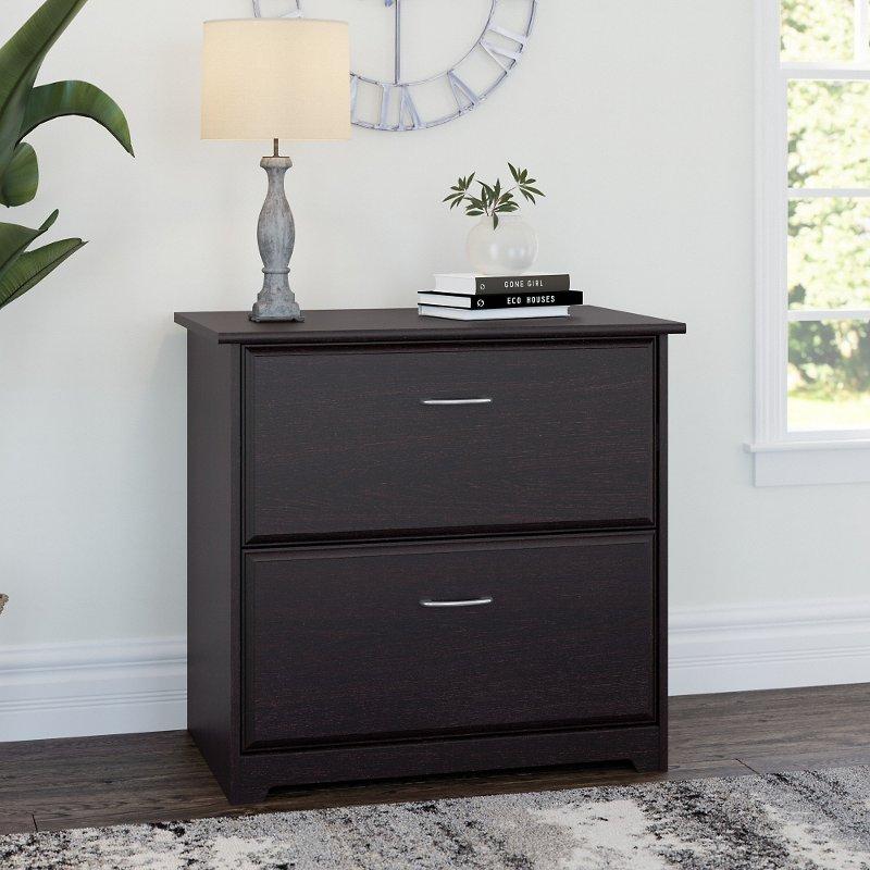 Espresso Oak 2 Drawer Lateral File Cabinet - Cabot