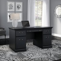 Antique Black Executive Desk (60 Inch) - Birmingham