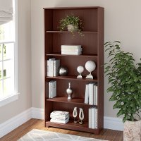 Cherry 5-Shelf Bookcase - Cabot