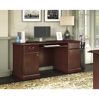 Kathy Ireland Cherry Pedestal Desk - Bennington