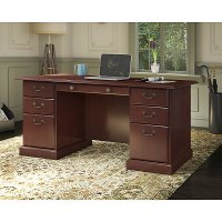 Kathy Ireland Cherry Manager's Desk - Bennington