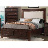 Harwich Cherry Full Storage Bed