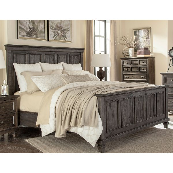 Classic Charcoal Gray King Size Bed