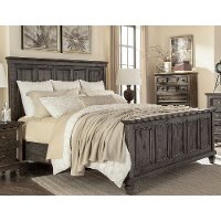 Classic Charcoal Gray California King Bed - Calistoga