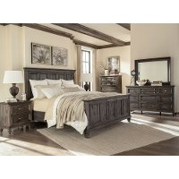 Charcoal Gray 4 Piece King Bedroom Set - Calistoga