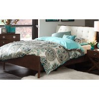 Ink+Ivy Pecan Mid-Century Modern King Upholstered Platform Bed - Cosmo