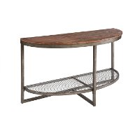 Ink+Ivy Sheridan Wood & Metal Rustic Industrial Console Table