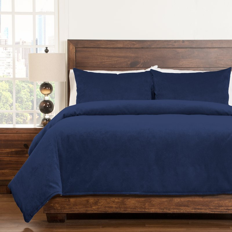 Padma Blue Bell 4 Piece Queen Bedding Collection