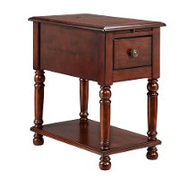 Stein World Cherry Oak Eldora Chair Side Table
