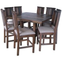 Colorado Multi Colored Pine 5 Piece Counter Height Dining Set RC Willey Fur