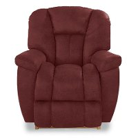 10-582LH827707RECL Leather Red Reclina-Rocker Manual Recliner - Maverick