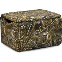 Camouflage Upholstered Storage Box - Real Tree