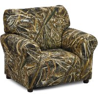 Camouflage Upholstered Club Chair - Real Tree
