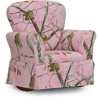 Pink Camouflage Skirted Rocker - Real Tree