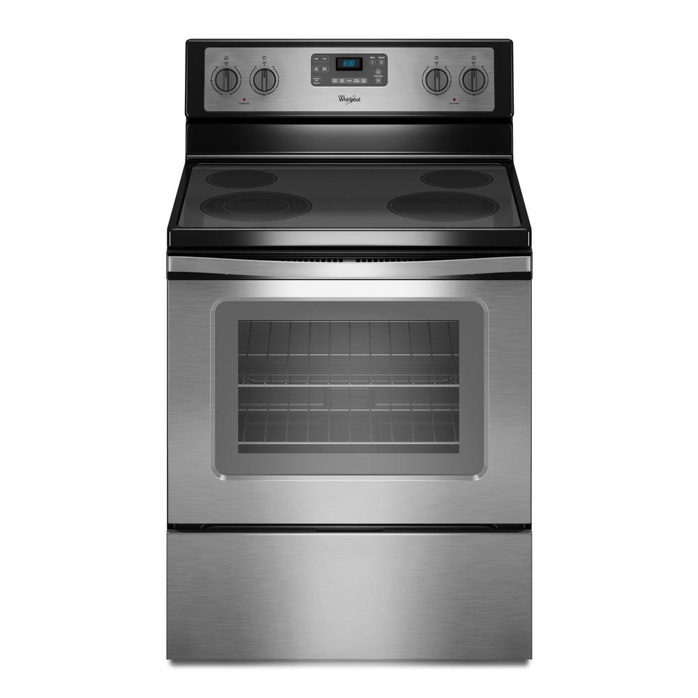Whirlpool 4 piece kitchen appliance package with electric range wfe515s0es whirlpool electric 53 cu ft electric range stainless steel workwithnaturefo